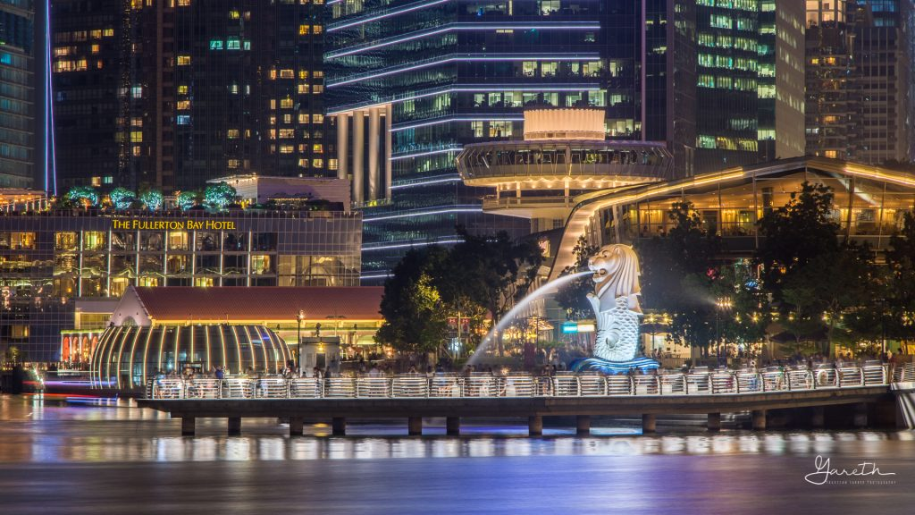 The Merlion at night